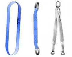 Slings are load-lifting: ring STK, loopback STP,
