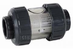 Фильтр пластиковый (ПВХ), DN40, на трубу ПВХ