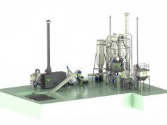 Lines granulation 1100-1500 kg / h including...