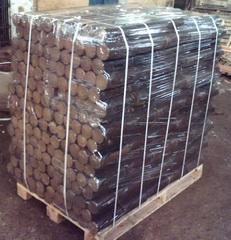 Wood Briquettes. Oak-tree. Blow Method