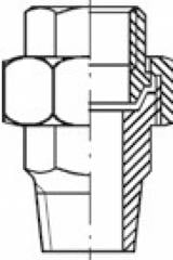 Соединение трубно-резьбовое PN 40 сталь ASTM A105 (1.0432)
