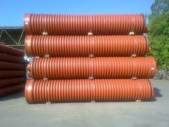 Pipe corrugated 600kh6000mm for the external