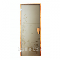Door in a sauna Lebed, a door from a thermoplate