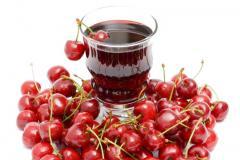 Соки вишневые, а также другие виды соков
