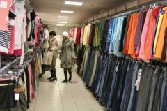 Clothes a second-hand from Europe