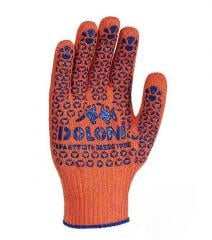 Gloves workers of Doloni with PVC (orange),