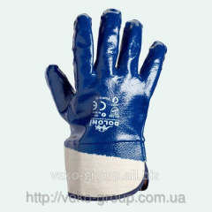Doloni mittens a smooth nitrile (blue, full having