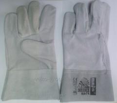 Перчатки  Краги без подкладки короткие