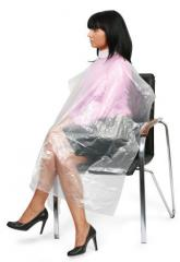 The peignoir is disposable polyethylene