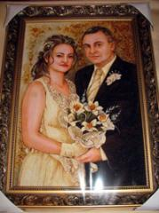Pictures on a wedding from amber