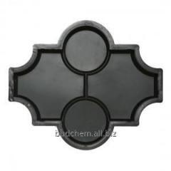 Форма Клевер 270х223х45 (гладкая, шагрень, с