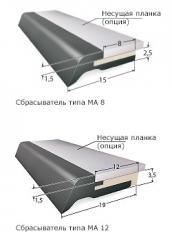 Очищающий скребок направляющих - Сбрасыватель на телескопических крышках  Тип MA 8