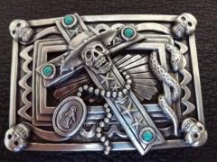 "Belt buckle from the French producer IDAM, ""A"