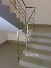 Handrail from standard stainless steel (Nerzhprom)
