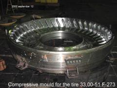 Пресс-форма сверх крупногабаритной шины