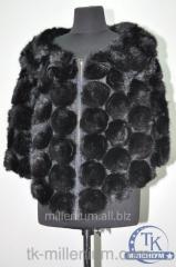 Накидка из кусочков натуральной норки размеры