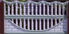 Section of a concrete fence 2050х1000