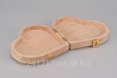 Деревянная шкатулка-заготовка в виде сердца