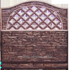 Забор железобетонный 11, наборной бетонный забор
