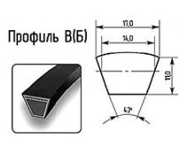 Ремень профиль В(Б) 17х11мм.