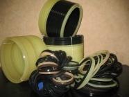 Guarnizione a chevron di gomma e tessuto da dispositivo idraulico