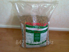 Wood pellets from coniferous breeds of wood