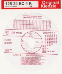 The card for the tachograph of 125 km/year Kienzle