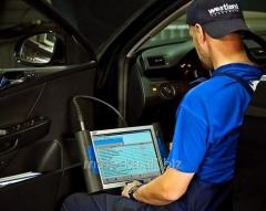 Computer diagnostics of the car, bus, tractors and