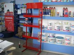 Trade and exhibition rack (company, for clothes,