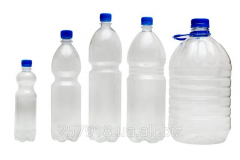 Bottle of PET of 0,5 l transparent.