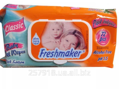 Wet towel wipes Freshmaker of 72 pieces. with