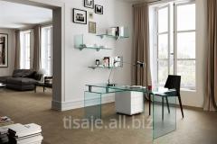 Desk from bent Ustus Dauble glass