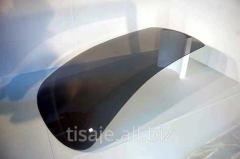 Bent glass for yachts, boats