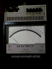 Voltmeters, ampermeters, phasemeters