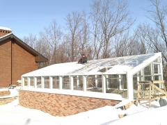 Winter garden from glass and aluminum Kharkiv,