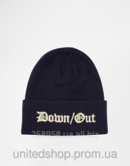Шапка - Asos - Down\Out Navy Зимняя