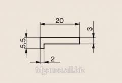 Sliding profile G-shaped 20x5,5 211310044