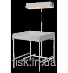 Irradiator for the top heating of the baby with a