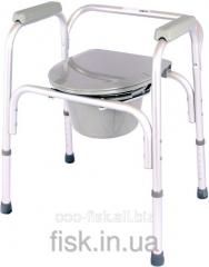Aluminum chair toilet 3 in 1