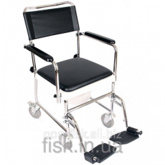 Wheelchair with sanitary equipment (with a toilet)