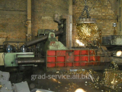 Hydraulic press of packing of waste of U81-250 BS,