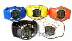 Профессиональный пульсомер- наручные часы HRM-2518 с подсветкой и счетчиком калорий (цвет желтый)