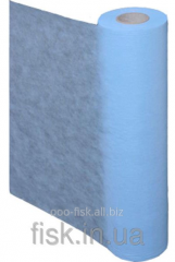 Sheet disposable in a roll from nonwoven fabric