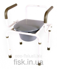 Chair toilet aluminum with folding armrests of OSD