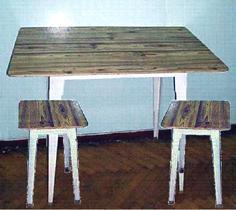 Комплект кухонный (дачный) : стол + 2 табурета