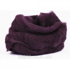 Шерсть для валяния кардочесанная, С14, Фиолетовая