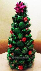 """Композиция из конфет  """" Новогодняя"""
