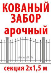 Wrought-iron fence, arch, 2х1,5 m