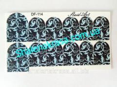 Sticker on nails of Sliders art DF - 114