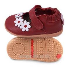 Обувь с цветочками для девочки  Shooshoos SMY5 Red